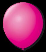 Balão São Roque Redondo N°8 C/50un Rosa Shock