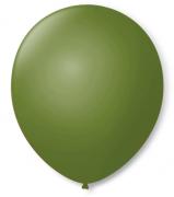 Balão São Roque Redondo N°8 C/50un Verde Militar