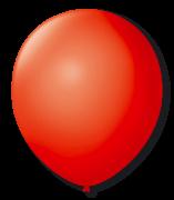 Balão São Roque Redondo N°8 C/50un Vermelho Quente