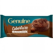 Barra De Chocolate Cobertura Ao Leite 1Kg - Genuine