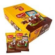 Bolinho Chocolate Recheado Chocolate C/14un 40g - Bauducco