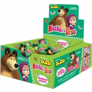 Chiclete Masha e o Urso Hortelã c/100 - Buzzy