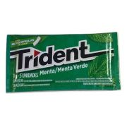 Chiclete Trident Menta 8gr C/21 - Adams
