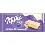 Chocolate Branco Milka Weibe Schokolade 100g - Chocolate Importado