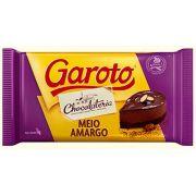 Barra De Chocolate Meio Amargo 1kg Garoto