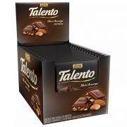 Chocolate Meio Amargo Tablete Talento Preto Amêndoas 90Gr C/12un - Garoto
