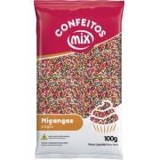 Confeito Miçanga 8 Cores 500g - Mix Granulado