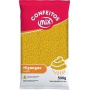 Confeito Miçanga Amarelo 500g - Mix Granulado