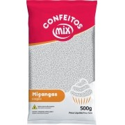Confeito Miçanga Branco 500g - Mix Granulado