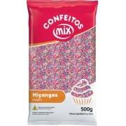 Confeito Miçanga Candy Color 500g - Mix Granulado