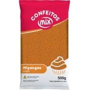 Confeito Miçanga Laranja 500g - Mix Granulado