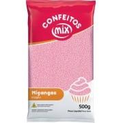 Confeito Miçanga Rosa bebe 500g - Mix Granulado