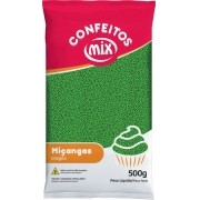 Confeito Miçanga Verde 500g - Mix Granulado