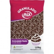 Granulado Macio Mesclado Chocolate e Branco 1,01Kg - Mix Brigadeiro