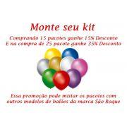 Kit Balão São Roque Cintilante N°9 C/50un