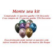 Kit Balão São Roque Metalizado N°9 C/25un