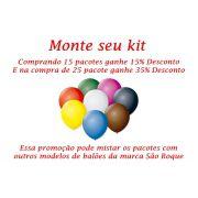 Kit Balão São Roque N°8 Redondo C/50un