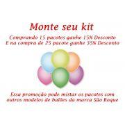 Kit Balão São Roque Neon N°9 C/25un