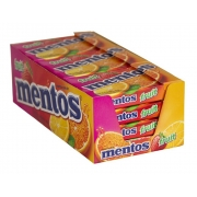 Pastilha Mentos Slim Box 9x24,1gr - Fruit