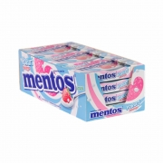 Pastilha Mentos Slim Box 9x24,1gr - Yogurte Morango