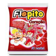 Pirulito Coração Vermelho Flopito 500gr - Florestal