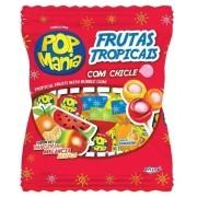 Pirulito Pop Mania Com Recheio Chiclete Frutas Tropicais