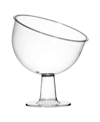 Taça Inclinada Grande Acrílico Cristal 2,7L - Três Triângulos