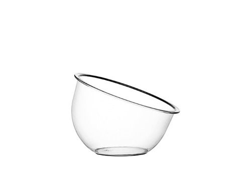 Taça Inclinada Média Sem Pedestal Acrílico Cristal 900ML - Três Triângulos