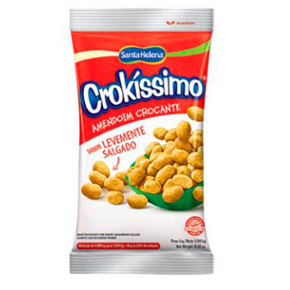 Amendoim Crocante Crokíssimo Salgado 1,01kg - Santa Helena