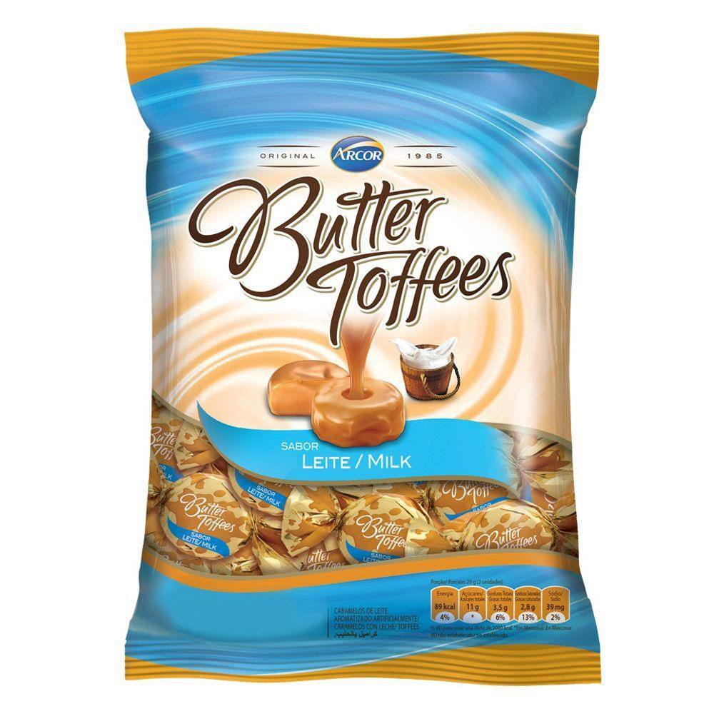 Bala Butter Toffees Leite 600g - Arcor