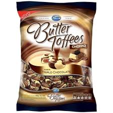 Bala Butter Toffees Triplo Chocolate 600g - Arcor