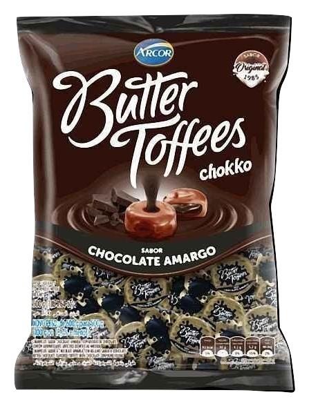 Bala Butter Toffes Chokko Chocolate Amargo 500g - Arcor
