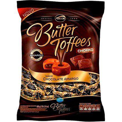 Bala Butter Toffes Chokko Chocolate Amargo 600g - Arcor