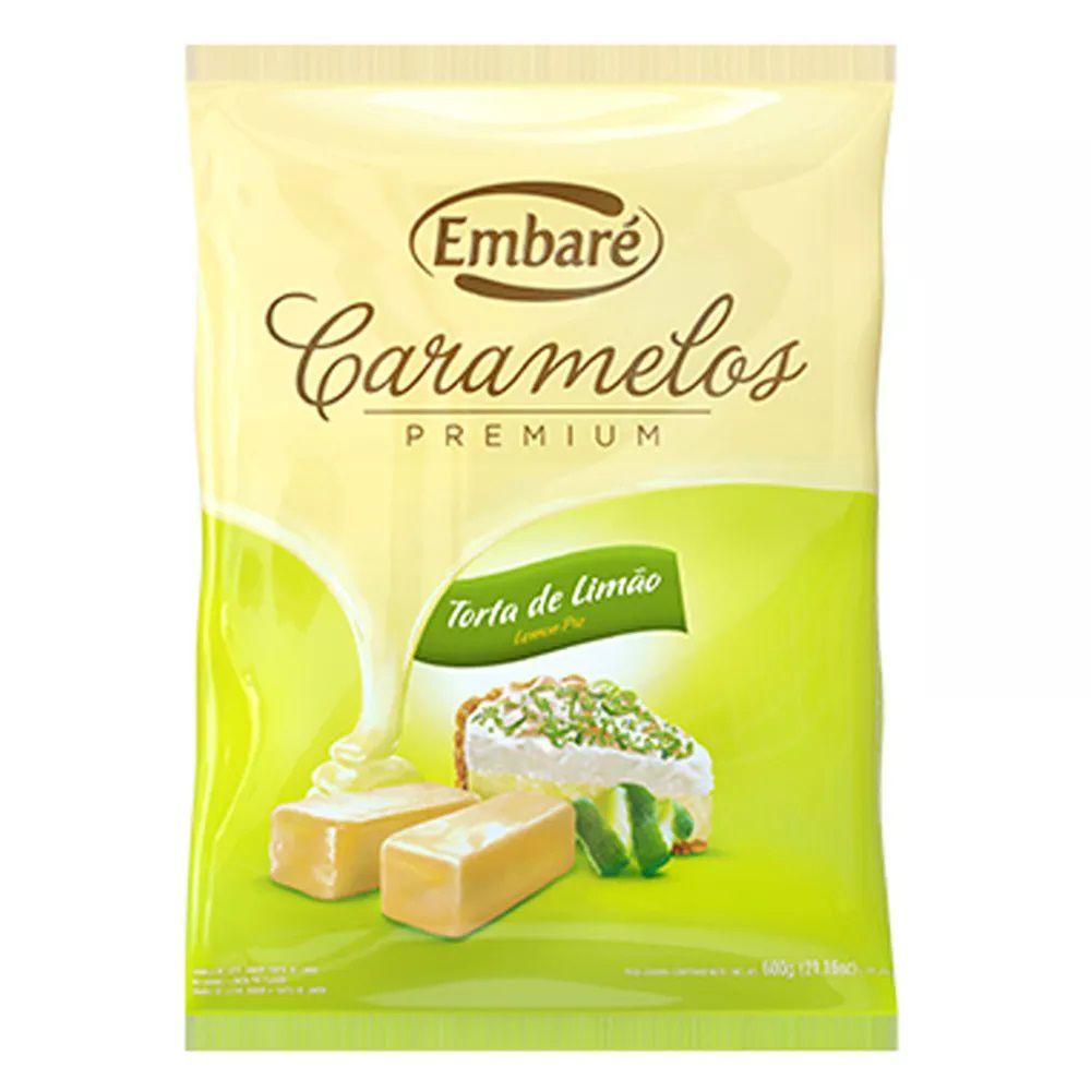 Bala De Caramelo Premium Sabor Torta De Limão 600g - Embaré