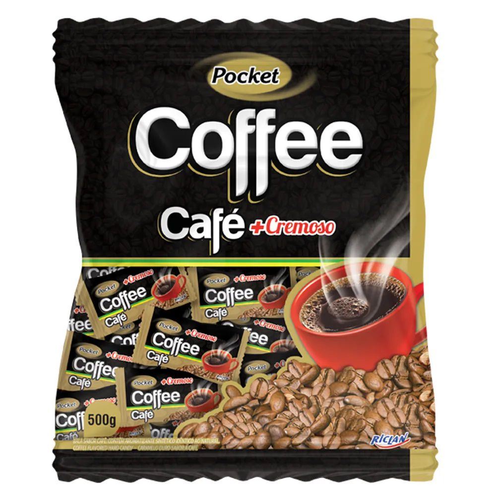Bala De Café Pocket Cremosa Coffee 500g - Freegells