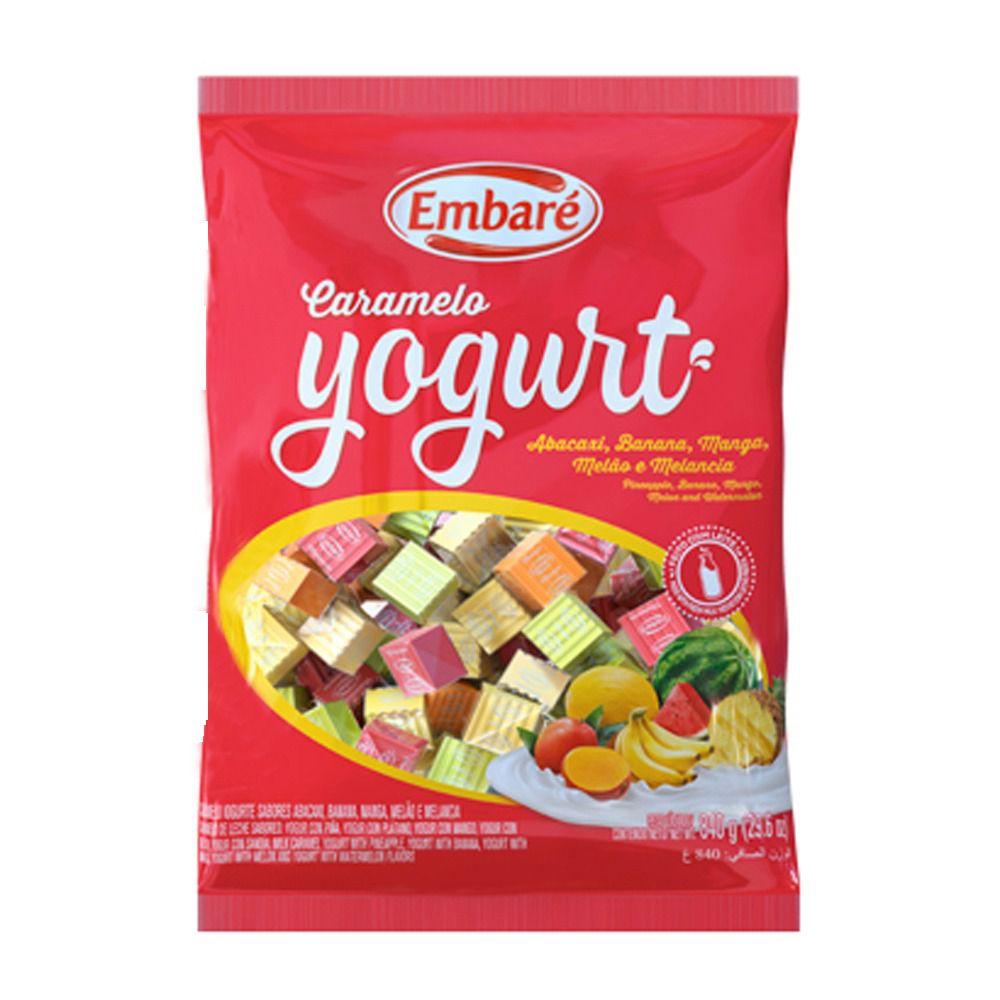 Bala De Caramelo Iogurte Frutas Vermelha 660g - Embaré