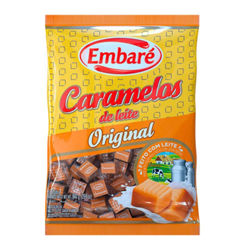 Bala de Caramelo Leite Sabor Baunilha 660g - Embaré
