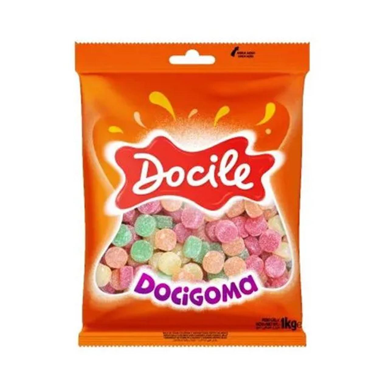 Bala De Goma Docigoma Sortida 1kg - Docile