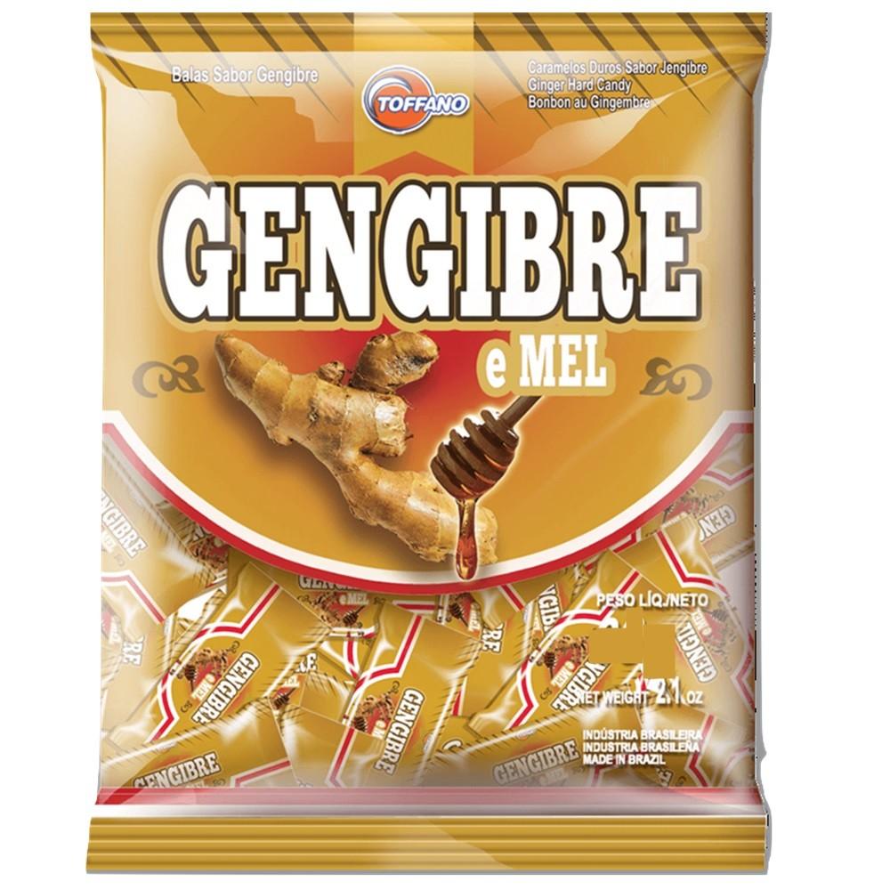 Bala Gengibre e Mel 500g - Toffano