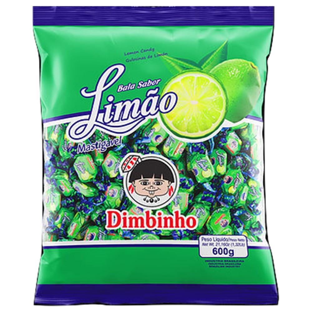 Bala Mastigável Limão 600g - Dimbinho