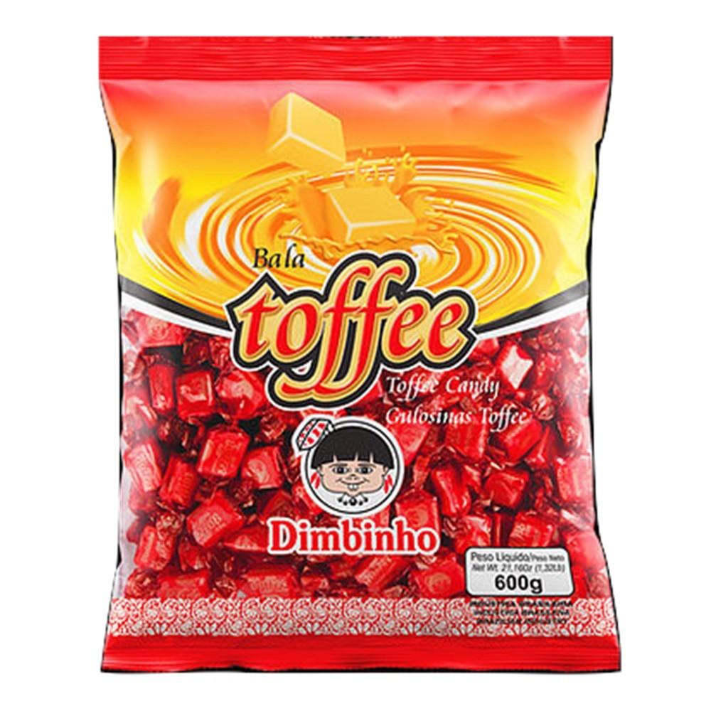 Bala Mastigável Toffee 600g - Dimbinho