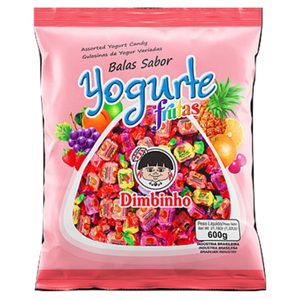Bala Mastigável Yogurte Frutas 600g - Dimbinho