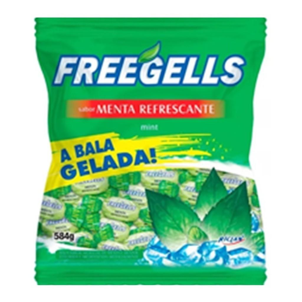 Bala Menta Refrescante 584gr - Freegells