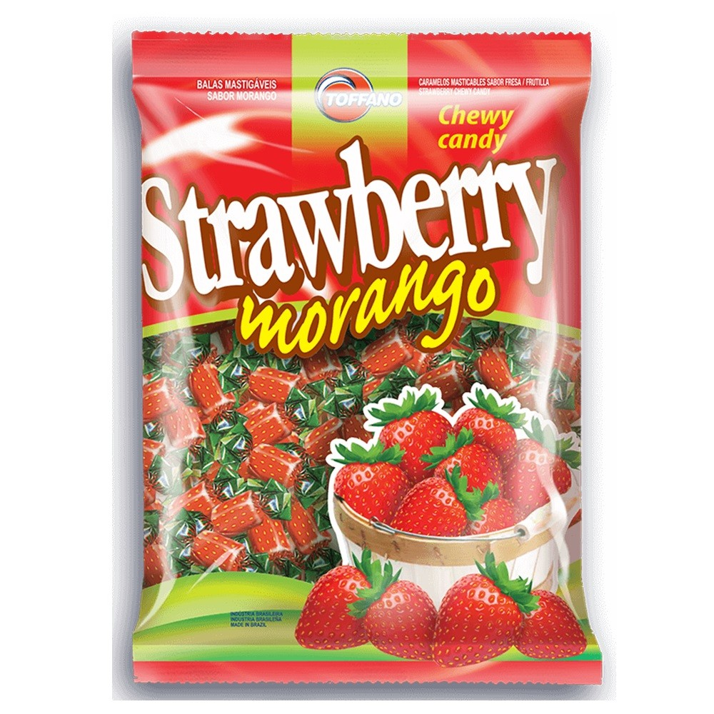 Bala Morango Strawberry 600g - Toffano