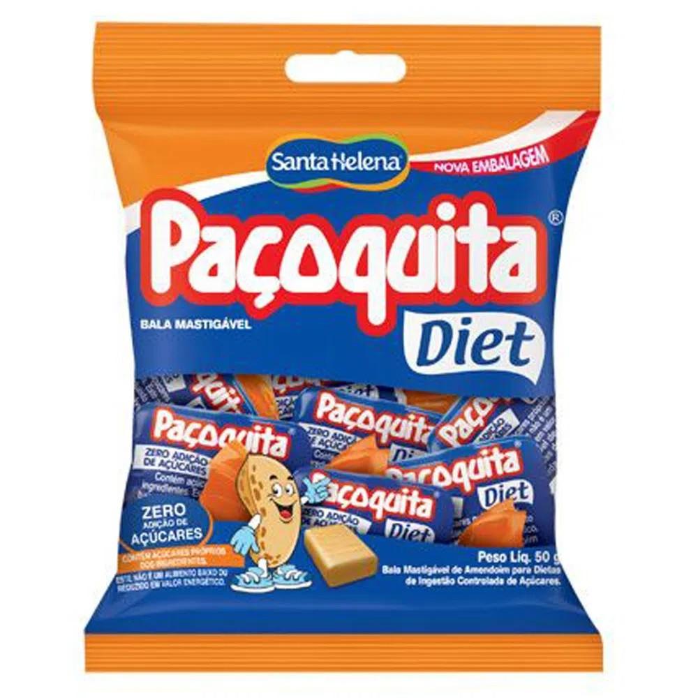 Bala Paçoquita Diet Mastigável 50g - Santa Helena