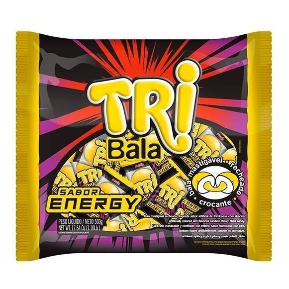Bala Recheada Tri Bala Sabor Energy 500gr - Peccin