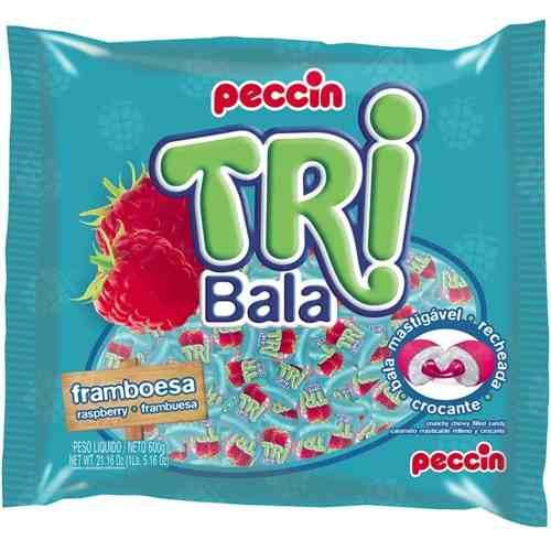 Bala Recheada Tri Bala Sabor Framboesa 500g - Peccin
