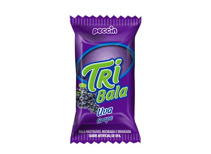 Bala Recheada Tri Bala Sabor Uva 500g - Peccin