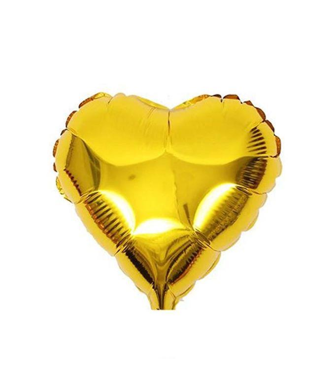 """Balão Metalizado Coração 18"""" (aprox. 45cm) Dourado"""