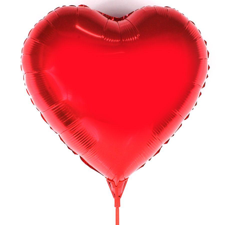 """Balão Metalizado Coração 18"""" (aprox. 45cm) Vermelho"""